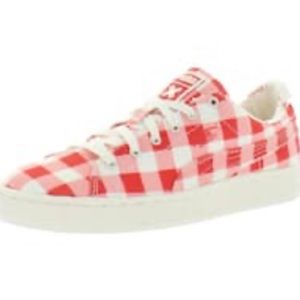 PUMA Basket Red & White Check Slip On Sneakers
